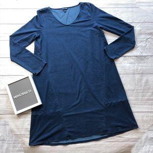 Pure Jill Indigo Womens XS Blue Long Sleeve Dress